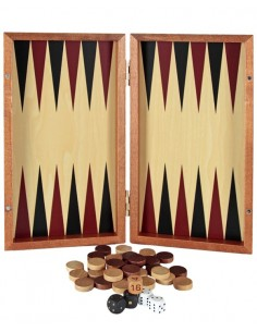 Backgammon Madera Plegable