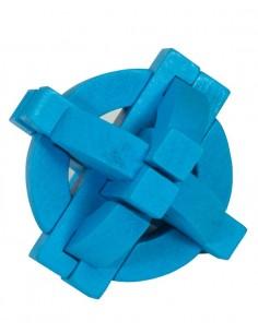 Rompecabezas Madera Azul