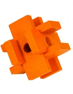 Rompecabezas Madera Naranja