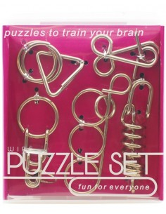 Set Wire Puzzle Metal Morado