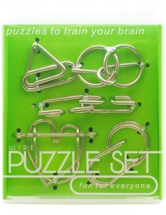Set Wire Puzzle Metal Verde