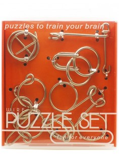 Set Wire Puzzle Metal Naranja