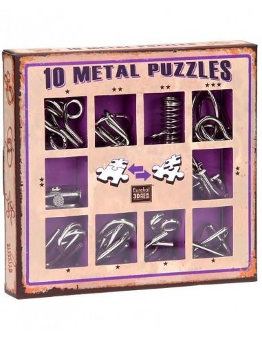 Set 10 Mini Metal Puzzles M