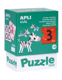 Puzzle Dúo Contar Animales