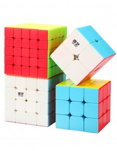 Pack Cubos de Rubik Qiyi Stickerless