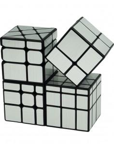 Pack Cubos de Rubik Mirror Plata
