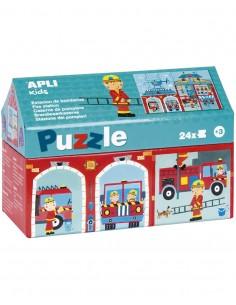 Puzzle Casita Estación de Bomberos