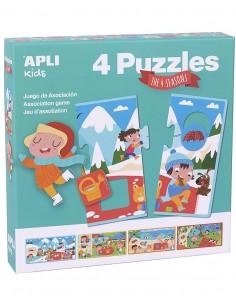 Puzzle Asociativo 4 Estaciones