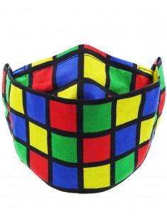 Mascarilla 3D reutilizable Cubo de Rubik