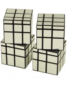 Pack Cubos de Rubik Qiyi Mirror Plata