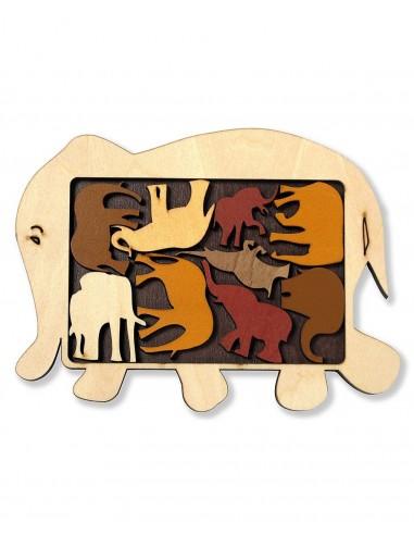 Puzzle Elephant Parade