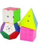 Pack Cubos de Rubik Formas Stickerless
